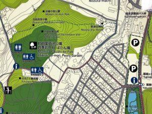 薬師池公園の北駐車場から町田ぼたん園
