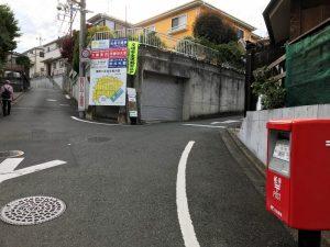 町田ぼたん園の道