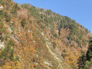 欅平駅付近の紅葉