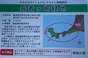 長者ヶ崎緑地の看板