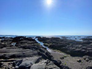天神島と太陽