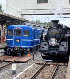 SL大樹と客車