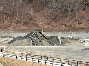 震災遺構「明戸海岸防潮堤」