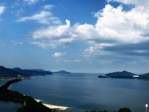 宮津湾と天橋立と雲