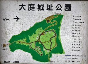 大庭城址公園図