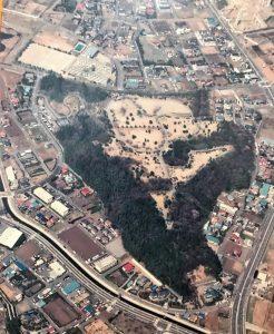 大庭城址公園・航空写真1990年