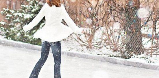 スケート女性